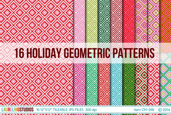 Tileable Holiday Geometric Patterns