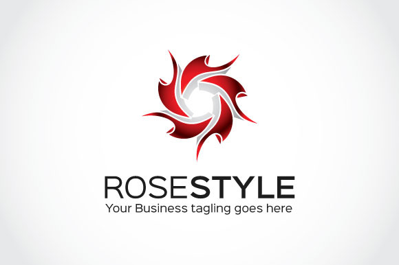 Rose Style Logo Template