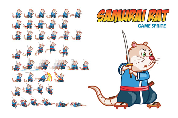 Samurai Rat Game Sprite
