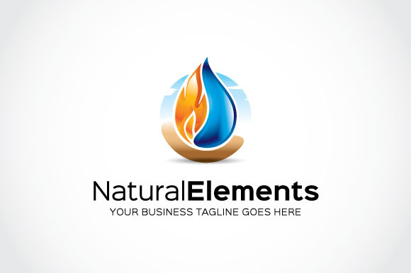 Natural Elements Logo Template