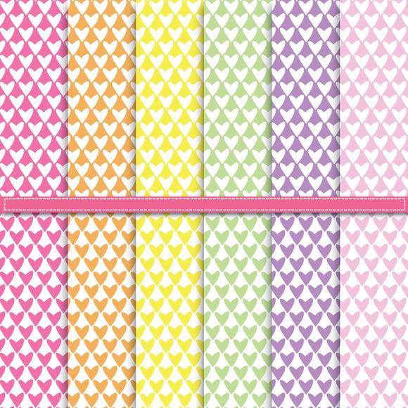 Lovely Heart Shape Digital Paper