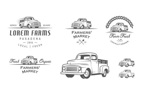 Vintage Farmer Truck Logos