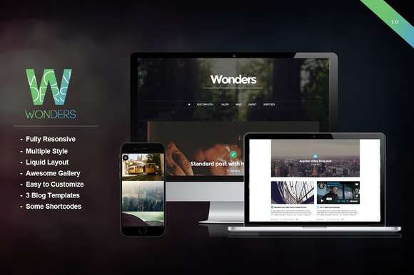 Wonders An Elegant Blog Theme