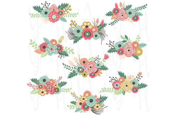 Vintage Floral Clip Art