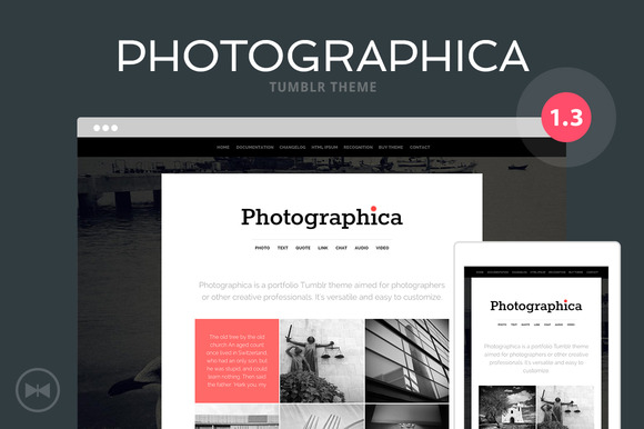 Photographica Tumblr Theme