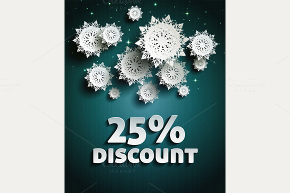 Discount With Snowflakes