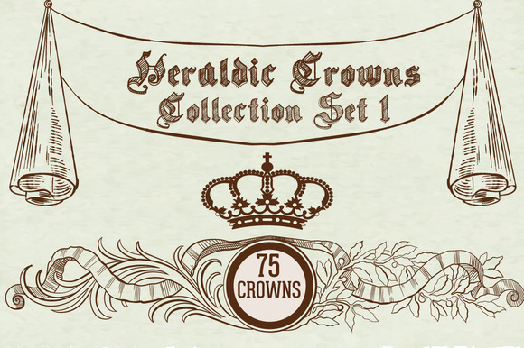 Heraldic Crowns Collection Set 1