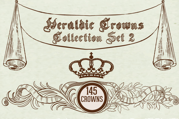 Heraldic Crowns Collection Set 2