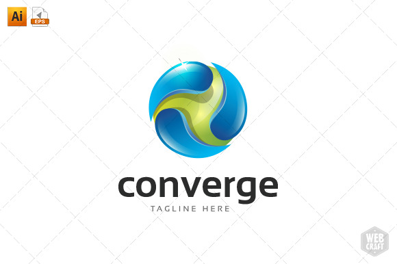 Converge Technology Logo Template