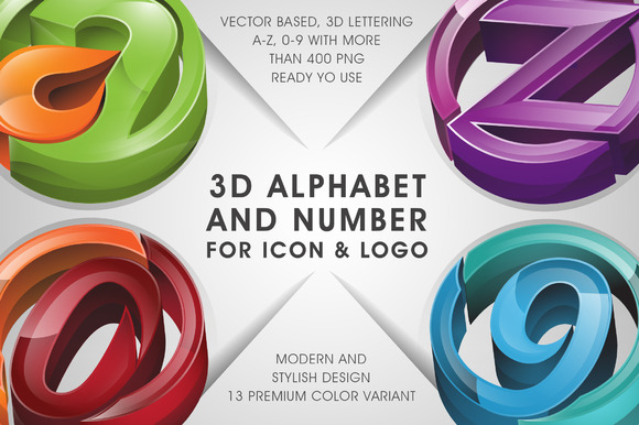 3D LETTERING For Icon Logo