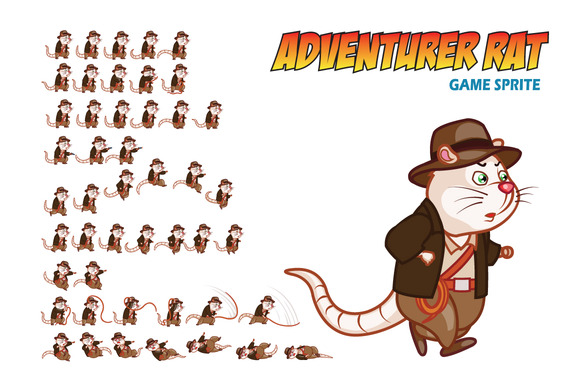 Adventurer Rat Game Sprite