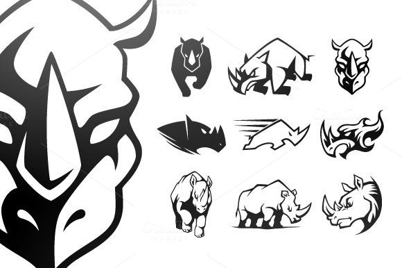 Stock Graphic Rhinoceros Symbol 187 Logotire Com