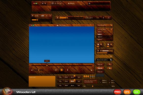 Wooden Mac UI Kit