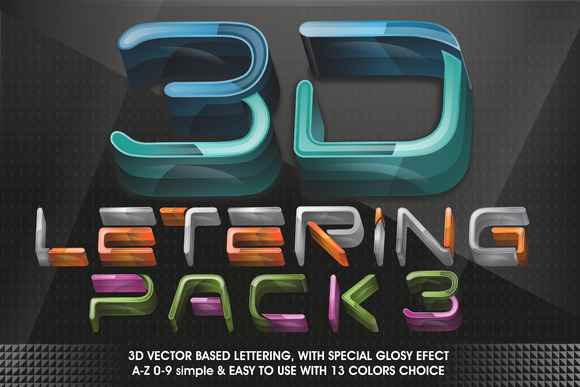 3D LETTERING Pack#3