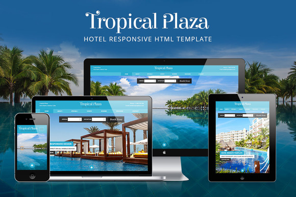Tropical Plaza Hotel HTML Template