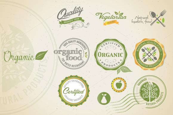 Organic Food Vector Set