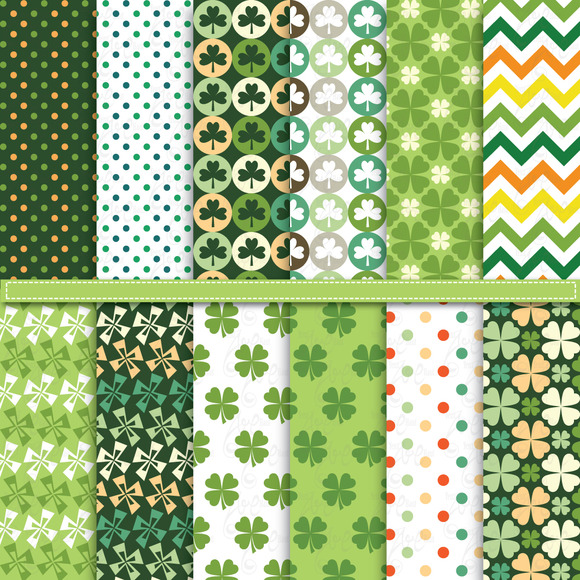 St.Patrick S Digital Paper Pack