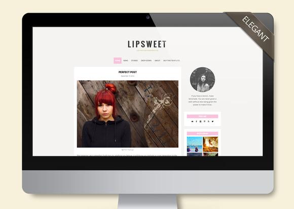 Lipsweet Wordpress Template Blog