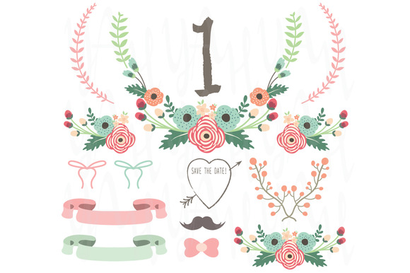 Flower Numeric Table Card