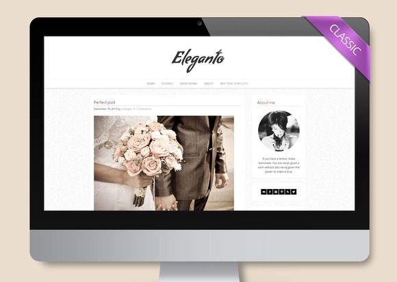 Eleganto Wordpress Theme Blog