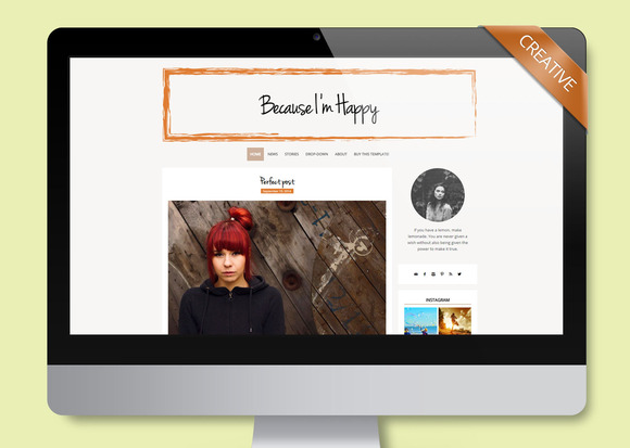 BecauseI MHappy Wordpress Theme