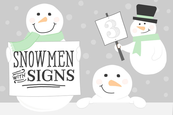 Snowmen With Signs