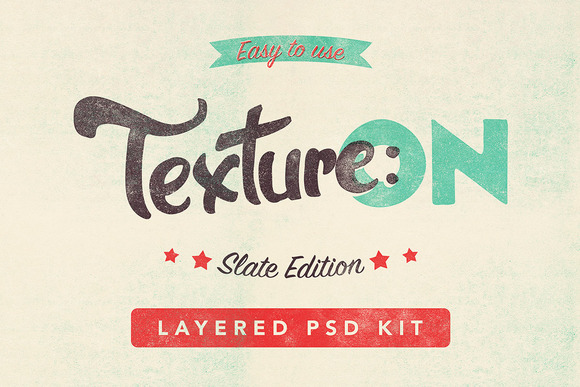 Texture ON Slate Layered PSD Kit
