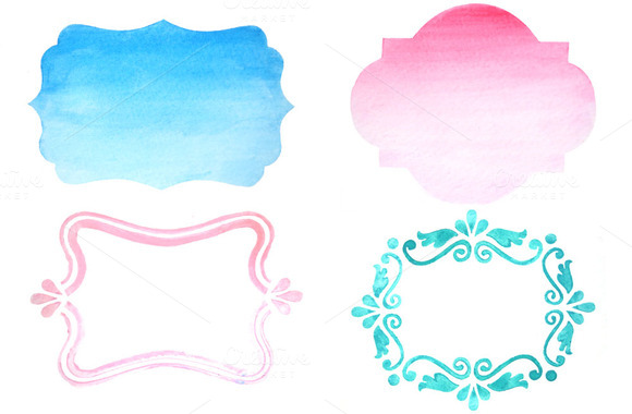 Hand Painted OMBRE Watercolors Yay