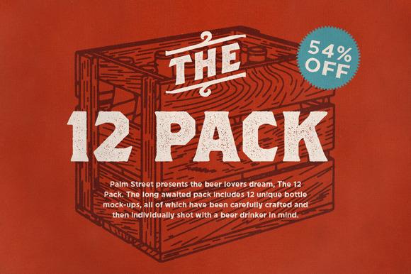 The 12 Pack Bottle Mock-Ups