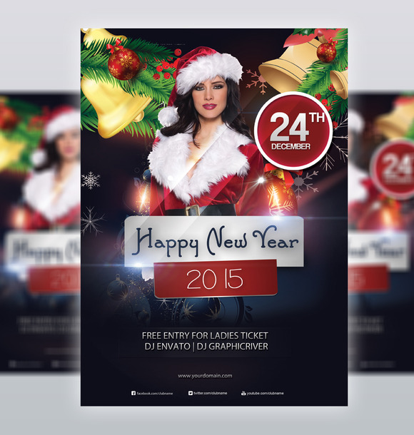 Happy New Year 2015 Flyer Template