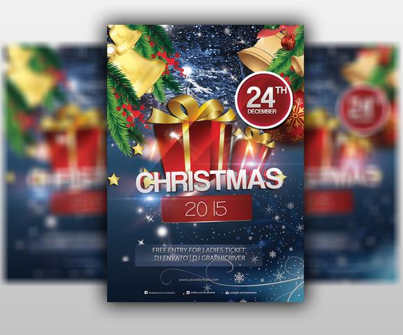 Merry Christmas 2015 Flyer Templat