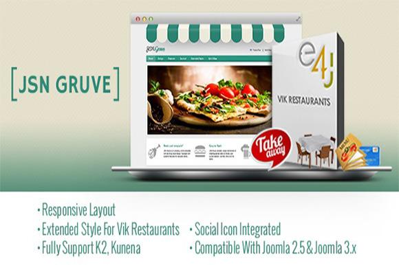 JSN Gruve- Restaurant Template