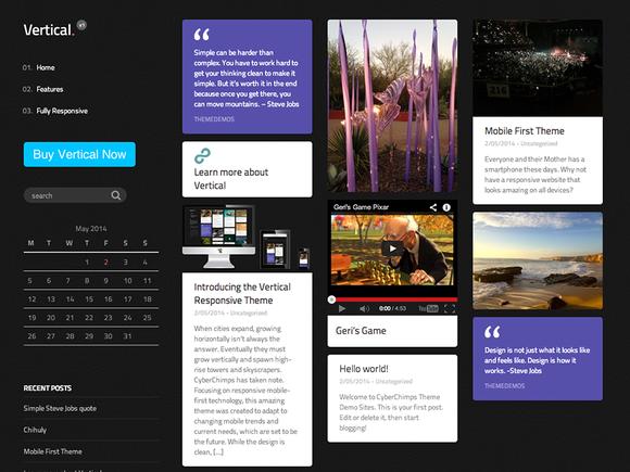 Vertical WordPress Theme