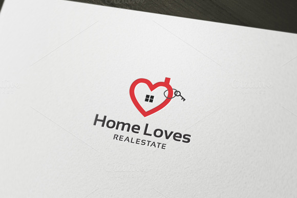 Home Loves Logo Template