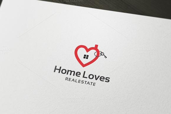 Home Loves Logo Template