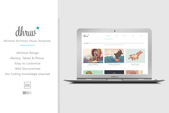 Dhruv Minimal Muse HTML Template