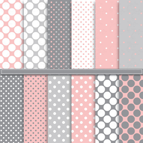 Polka Dot Digital Paper Pack