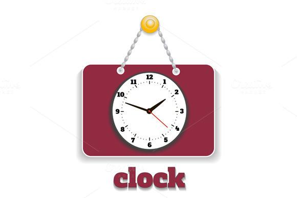 Shopping Clock Sign Board