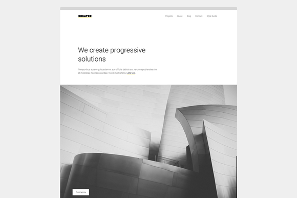 Creator Minimal Theme For Creatives