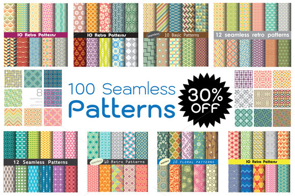 100 Selected Seamless Patterns