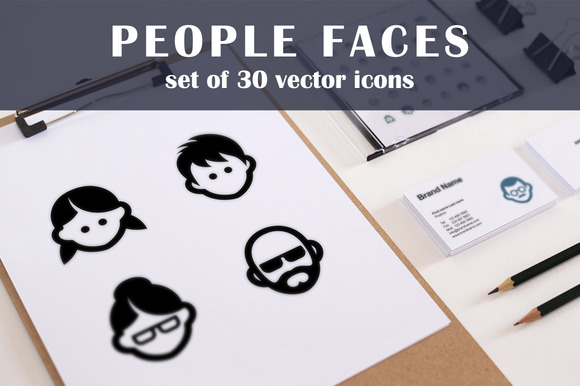 30 Face Icons