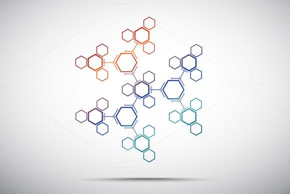 Abstract Snowflake Hexagonal