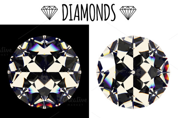Diamonds Top View