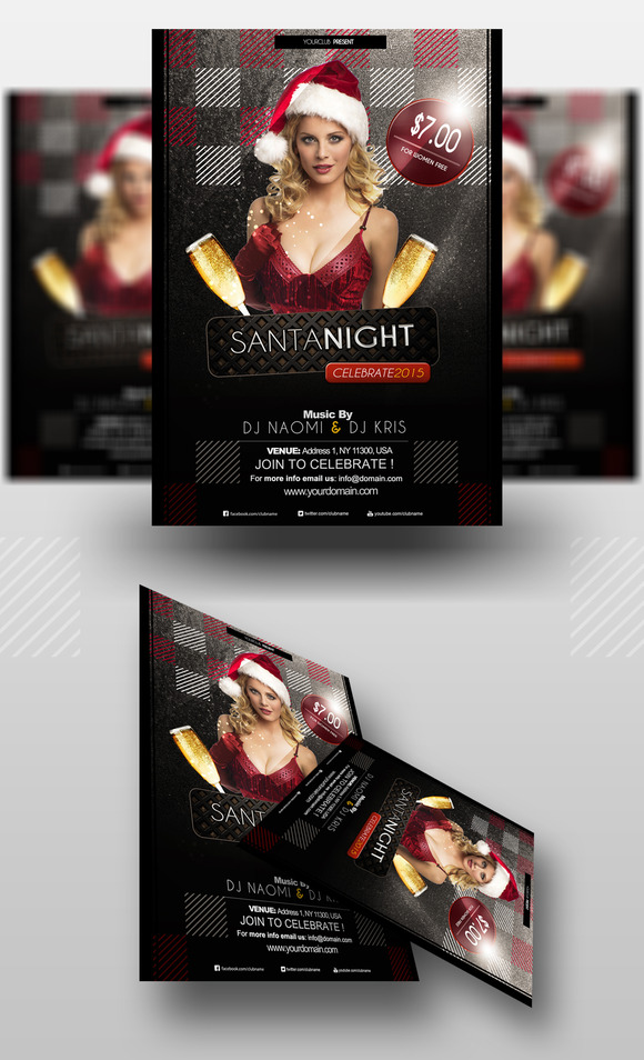 Santa Night Party Flyer Template