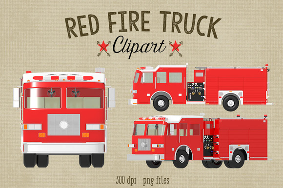 Red Fire Truck Clipart