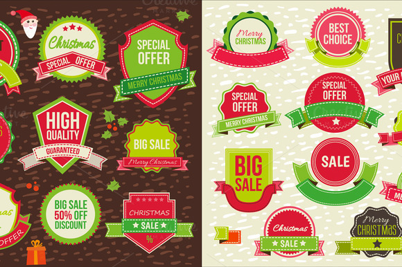 Christmas Sale Badges