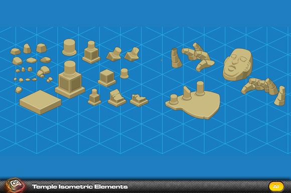 Temple Isometric Elements