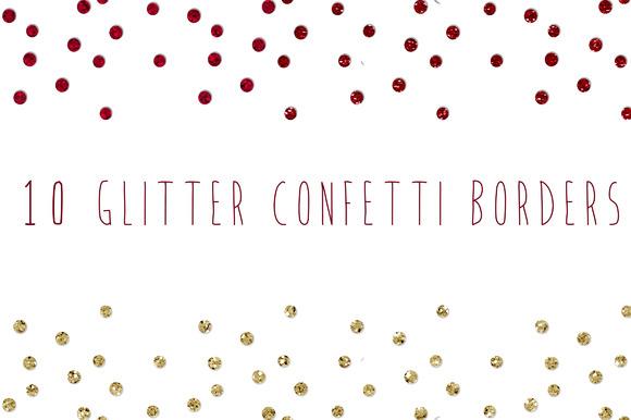Glitter Confetti Borders