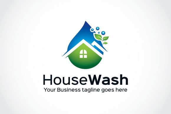 House Wash Logo Template