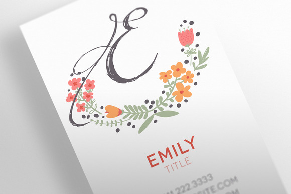 The Floral Business Card Template